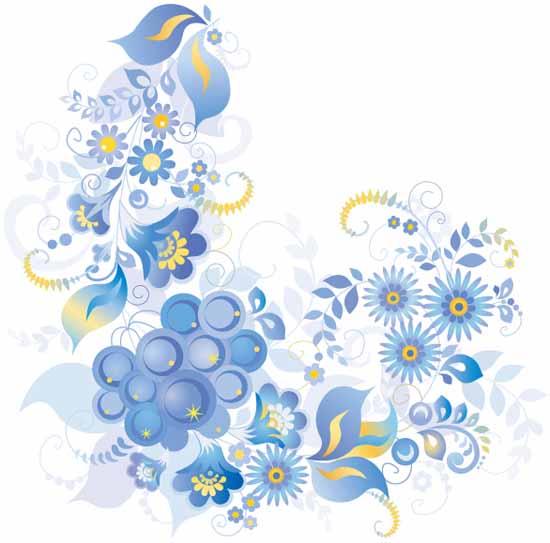 Download kumpulan Vektor Bunga berbagai pola dan warna berikut swirl